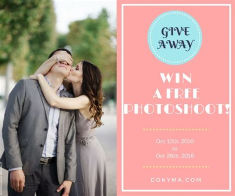Free Wedding Giveaways - win a free photoshoot contest with kyma