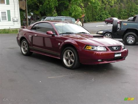 2004 Ford Mustang Coupe by 2004 40th Anniversary Crimson Metallic Ford Mustang Gt