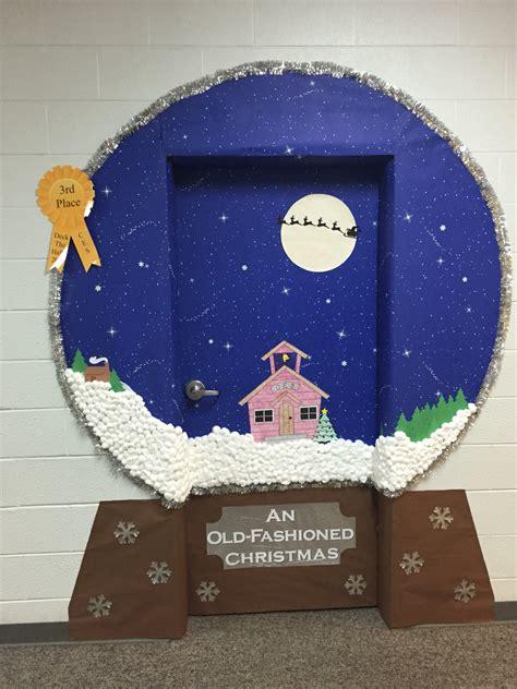 snow globe classroom door decoration idea classroom