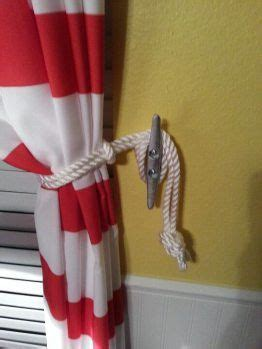 cute curtain tie backs cleat curtain tie backs would be cute in a nautical