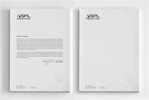 Insurance Letterhead Letterhead Design For Stefanie Cutrera By Logodentity Design 4268065