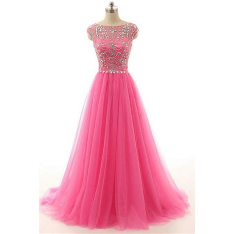 Zipper Dress Pink pink evening dresses prom dresses pink beaded