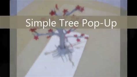 pop up tree card template free popup template simple 3d tree pop up