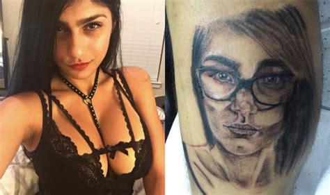 batman tattoo mia khalifa pornstar mia khalifa blasts fan for tattooing her face on