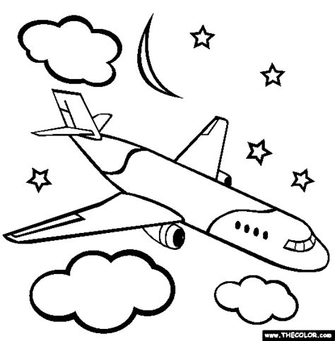 Airplanes Online Coloring Pages Page 1 The Jet Plane Coloring Pages
