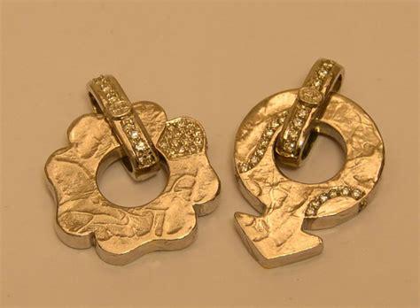 pavè di brillanti pendente in oro bianco e giallo quadrifoglio con pav 195