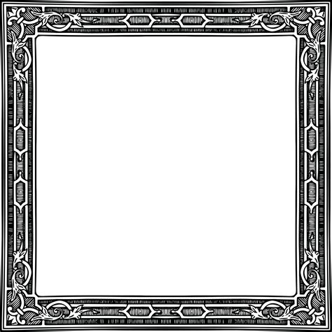 pattern vector border png free clipart of a classic styled frame of in black and white