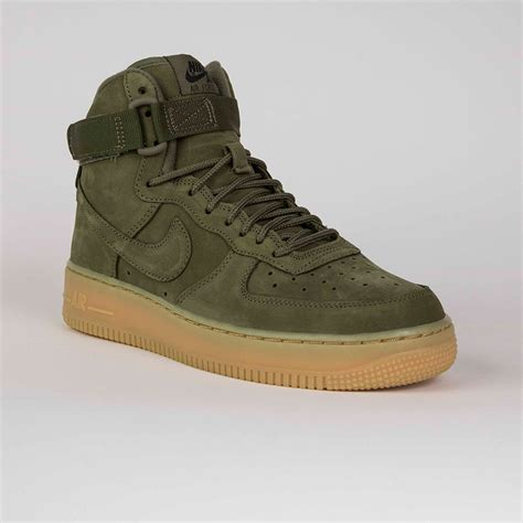 nike air force  high wb gs   green en