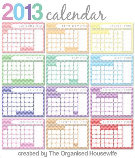 2013 Monthly Calendars Free Printable Monthly Calendars 2013 Calendar Template 2016