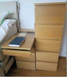 malm bed hacks malm extendable bedside table ikea hackers ikea hackers