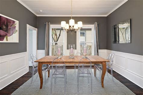 Paint Color Ideas For Dining Room With Chair Rail by 25 And Exquisite Gray Dining Room Ideas