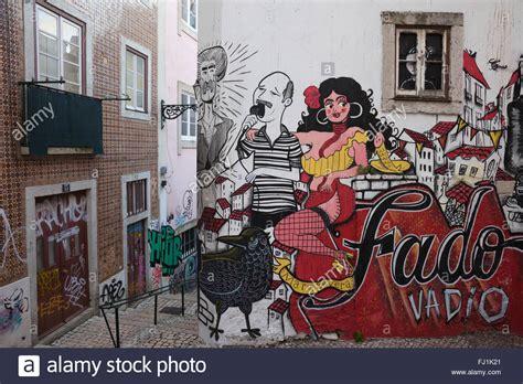 Wall Murals Graffiti portugal city of lisbon fado vadio mural graffiti