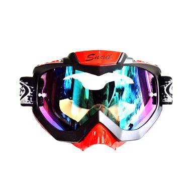 Kacamata Goggle Snail Kaca Pelangi 1 jual snail mx37 kaca pelangi hitam list merah kaca mata