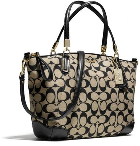 Coach Kelsey Small Signature Khaki coach small kelsey satchel in printed signature