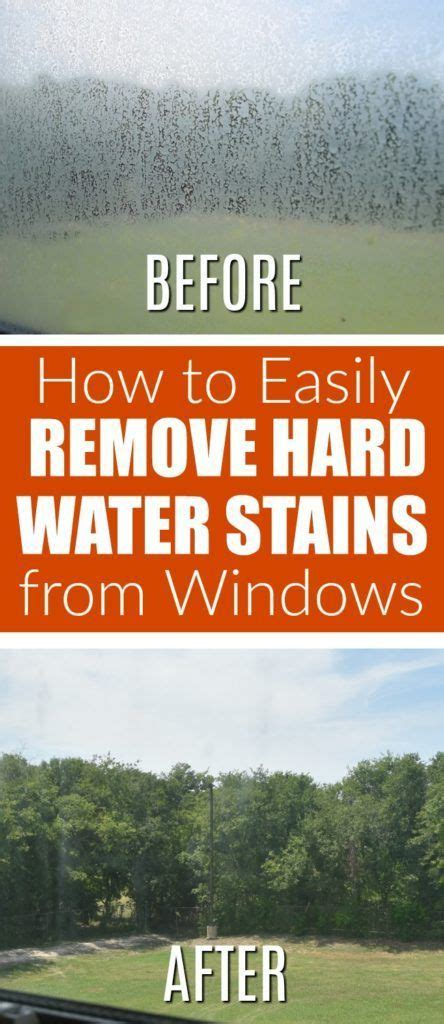 The Super Easy Way To Remove Hard Water Stains From How To Remove Water Stains From Shower Doors