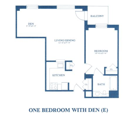 one bedroom with den floor plans pickersgill retirement community