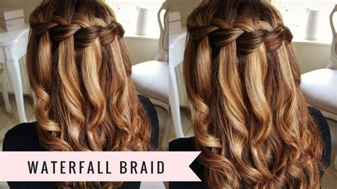 hairstyle design new waterfall braid by sweethearts hair youtube