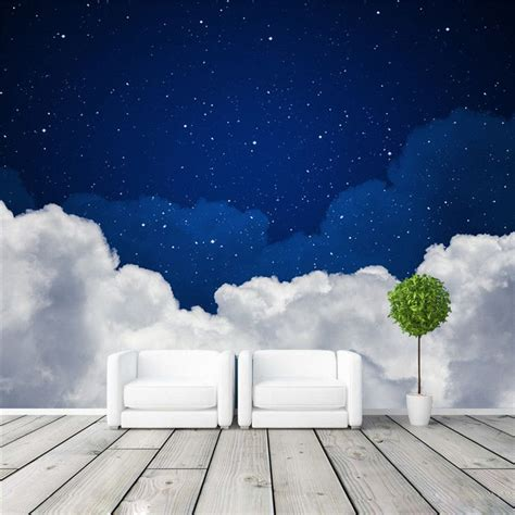 wallpaper 3d in wall night sky photo wallpaper galaxy wallpaper custom 3d