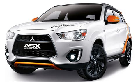 black mitsubishi asx mitsubishi asx orange edition 180 units rm133k