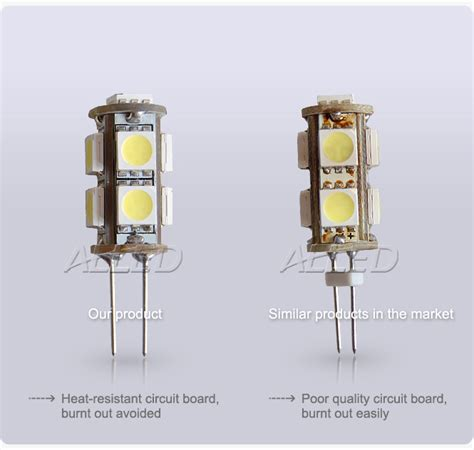 Led Cabinet Lighting Replacement Bulbs by 12v Led G4 Side Pin Replacement Bulb Cool White Smd