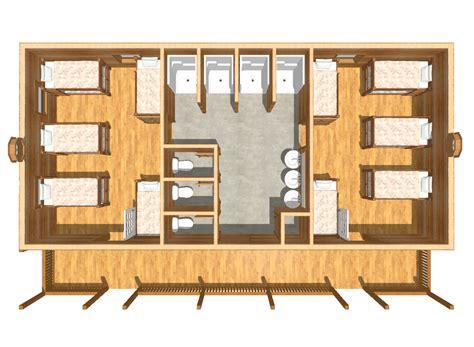 bunk house building plans bunkhouse cabin floor plans