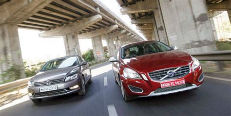 2012 volkswagen passat vs volvo s60 d3 comparison by