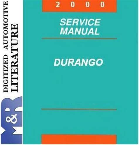 2001 dodge durango original service manual download manuals 2000 dodge durango original service manual download manuals