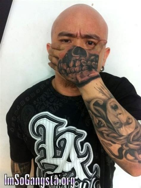 tough tattoo designs gangsta skull on for tough guys tattoos book