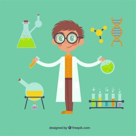 imagenes de simbolos cientificos cientista dos desenhos animados com elementos qu 237 micos