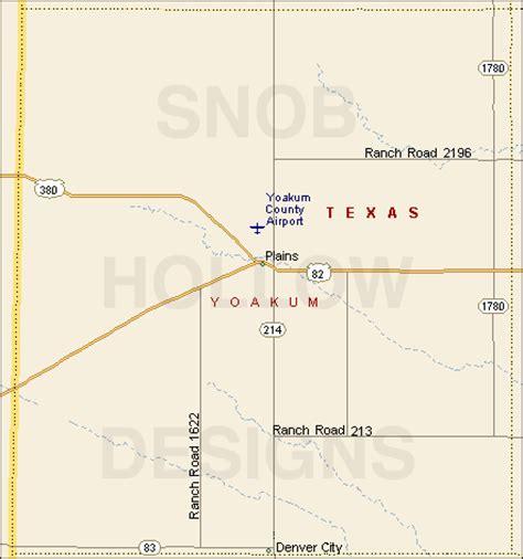 yoakum texas map yoakum county texas color map