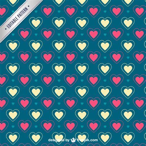 Valentine Pattern Vector | valentine s hearts pattern vector free download