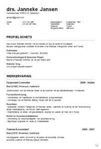 Curriculum Vitae Voorbeeld by Nederlands Curriculum Vitae Voorbeelden Jobcred Blog
