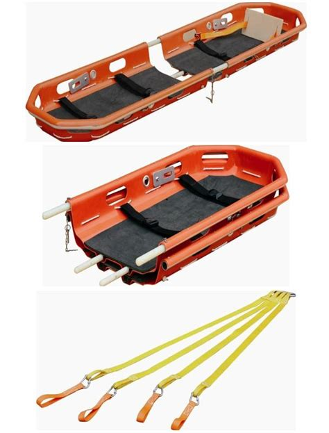 Tandu Split Basket Emergency Rescue Stretcher Ydc 8 A1 Helicopter proof folding basket stretcher for helicopter rescue