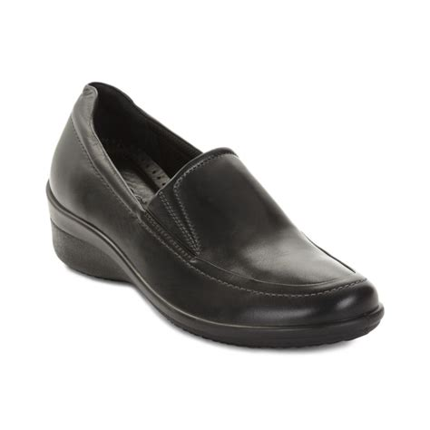 black slip on loafers ecco corse slip on loafers in black lyst