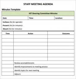 Staff Meeting Template staff meeting agenda 7 free for pdf