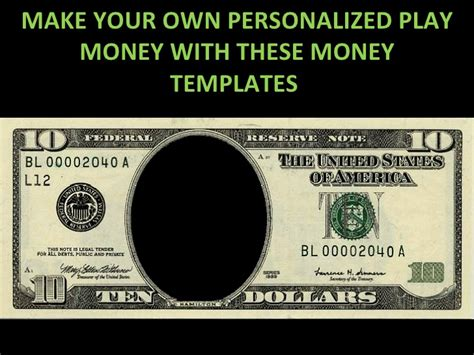 how to make your own powerpoint template play money personalized templates 1226033383010111 9