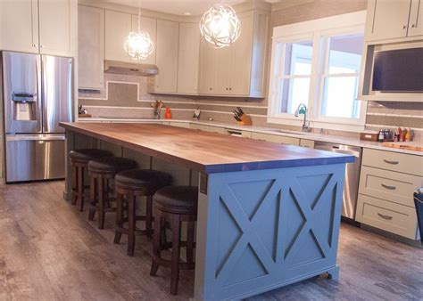 stainless steel kitchen island with butcher block top best 25 country kitchen island ideas on