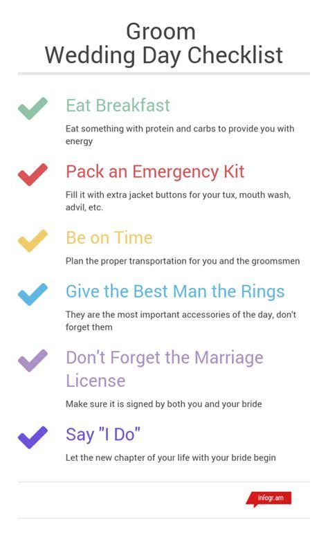 wedding day emergency kit checklist groom day of wedding checklist pertamini co