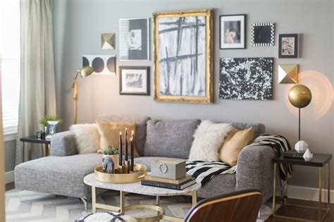 gray and gold black white grey and gold and there s my west elm coffee table i like ikea decora