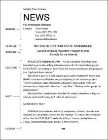 News Release Letter Sle A Detailed Guide To Writing A Press Release