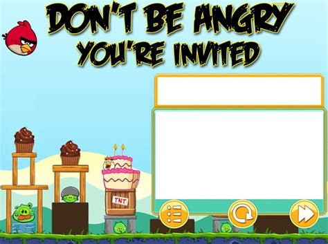 angry birds invitation card template angry birds invitation