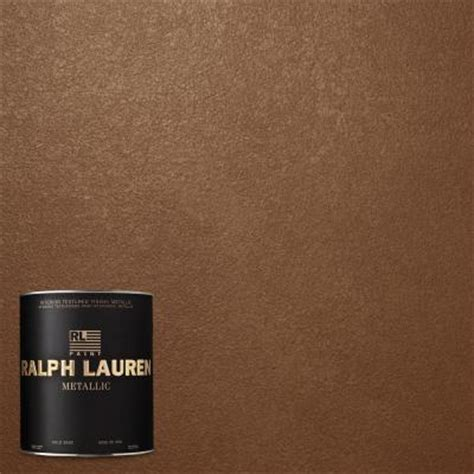 ralph 1 qt gilt bronze metallic specialty finish interior paint me135 04 the home depot