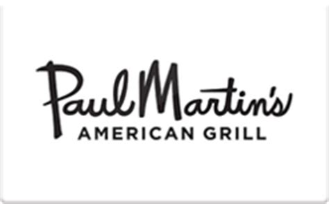 Martins Gift Cards - buy paul martin s american grill gift cards raise