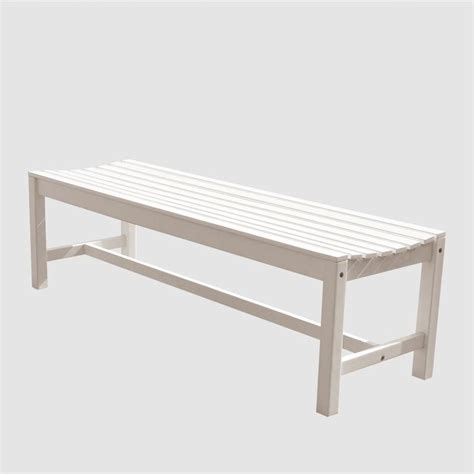 outdoor white bench backless outdoor bench in white v1614