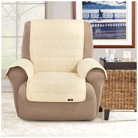 pet covers for recliners sure fit 174 waterproof quilted suede wing chair recliner