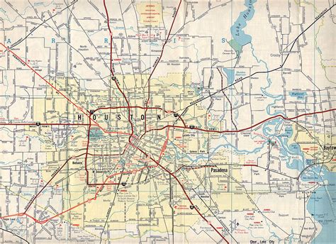 map texas roads houston maps houston past