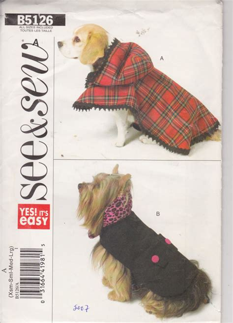paper pattern for dog coat see and sew b5126 dog coats xs l by butterick patterns