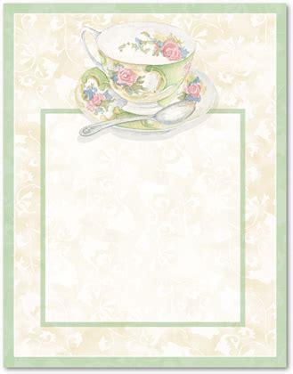 morning tea invitation template free free tea borders afternoon tea stationery