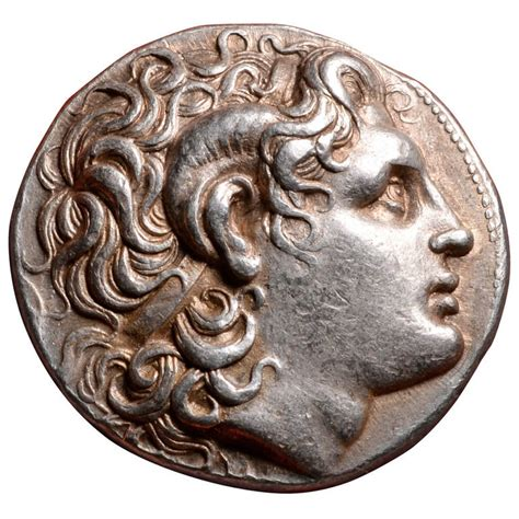 Ancient Greek Silver Alexander the Great Tetradrachm Coin