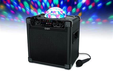 speakers with lights party rocker plus rechargeable speaker with spinning